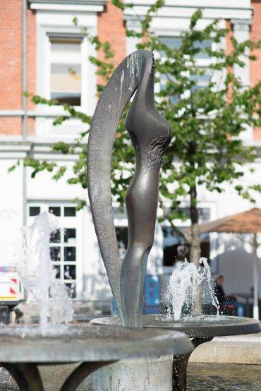 Josef Farkas: Figur Marktbrunnen, (Foto: KUNST@SH/Jan Petersen, 2017)