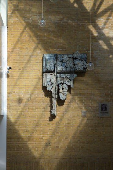 Cathy Fleckstein: Wandplastik, (Foto: KUNST@SH/Jan Petersen, 2017)