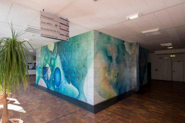 Lutz D. Braemer: Lichthaft –farbliche Wandmalerei, (Foto: KUNST@SH/Jan Petersen, 2018)