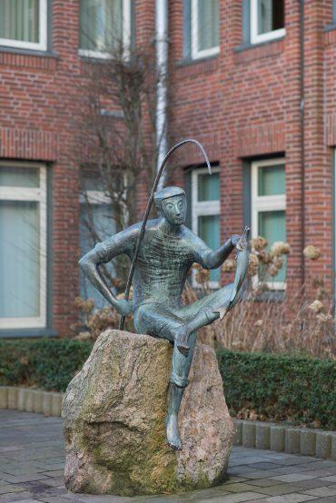 Karlheinz Goedtke: Der Angler, (Foto: KUNST@SH/Jan Petersen, 2018)