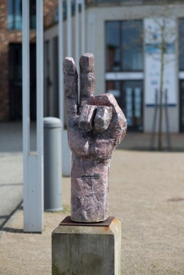 Jan Schröder: Hand III, (Foto: KUNST@SH/Jan Petersen, 2018)