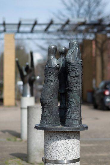 Edgar Augustin: Drei Figuren, (Foto: KUNST@SH/Jan Petersen, 2018)