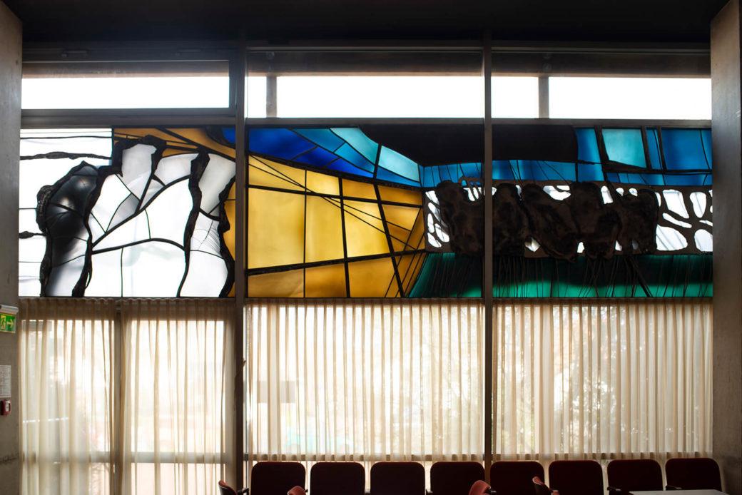 Ekkehard Thieme: Bildfenster in der Stadthalle (Foto: KUNST@SH/Jan Petersen, 2019)
