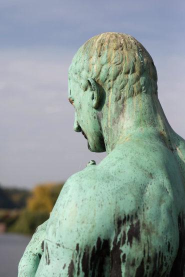 Georg Wrba: Weiblicher und männlicher Zentaur, (Foto: KUNST@SH/Jan Petersen, 2018)