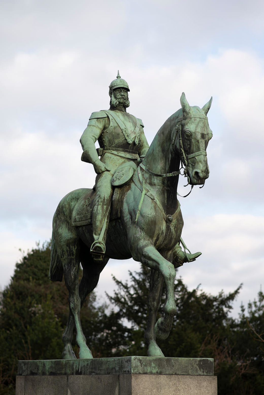 Louis Tuaillon: Reiterdenkmal Kaiser Wilhelm I. (Foto: KUNST@SH/Jan Petersen, 2019)