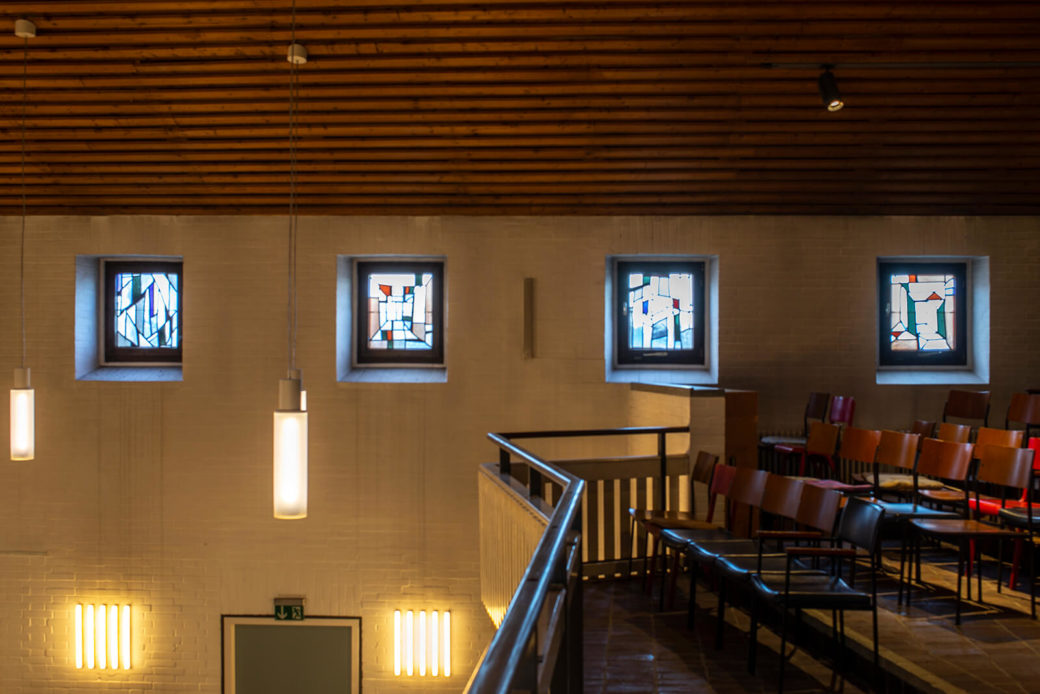 Alfred Roß: Vier Glasfenster (Foto: KUNST@SH/Jan Petersen, 2019)