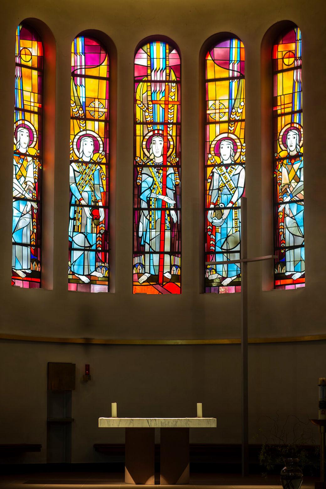 Heinrich Campendonk: Buntglasfenster Maria Grün (Foto: KUNST@SH/Jan Petersen, 2019)