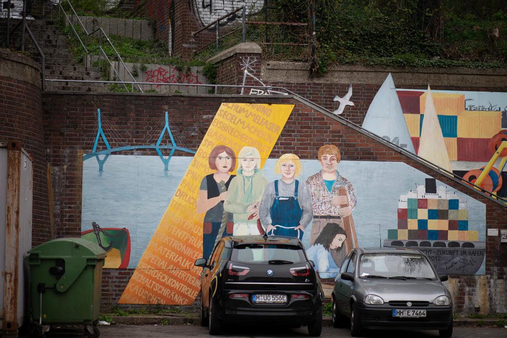 Hildegund Schuster: Mädchen in Sicht - Zukunft im Hafen (Foto: KUNST@SH/Jan Petersen, 2019)