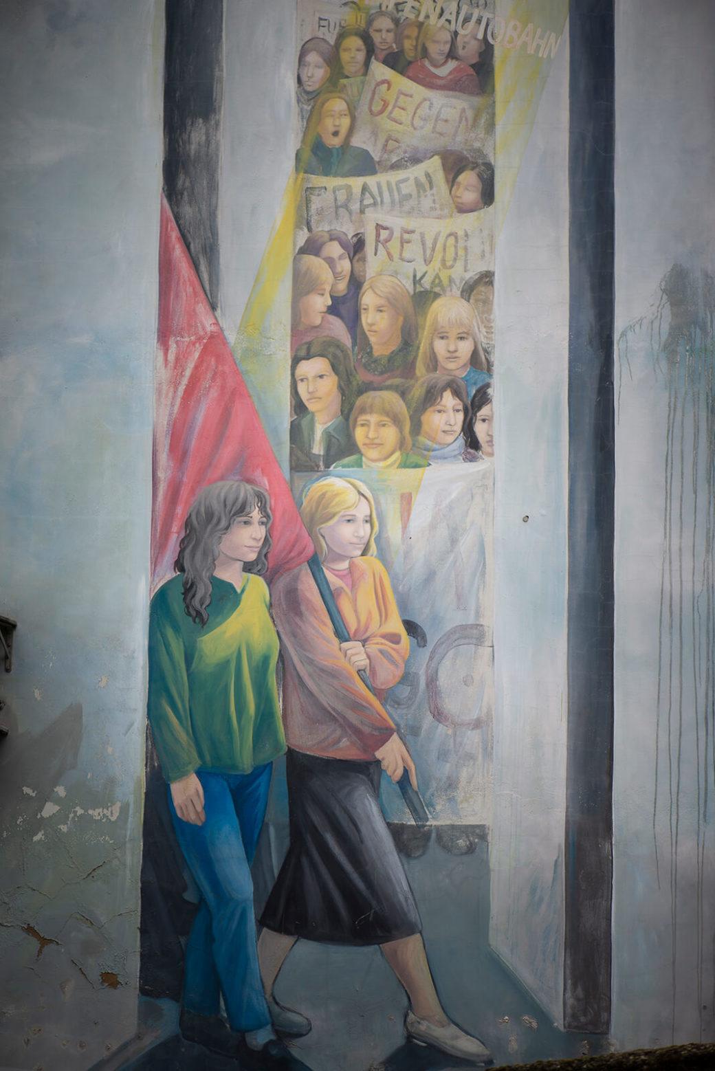 Cecilia Herrero: Demonstrantinnen (Foto: KUNST@SH/Jan Petersen, 2019)