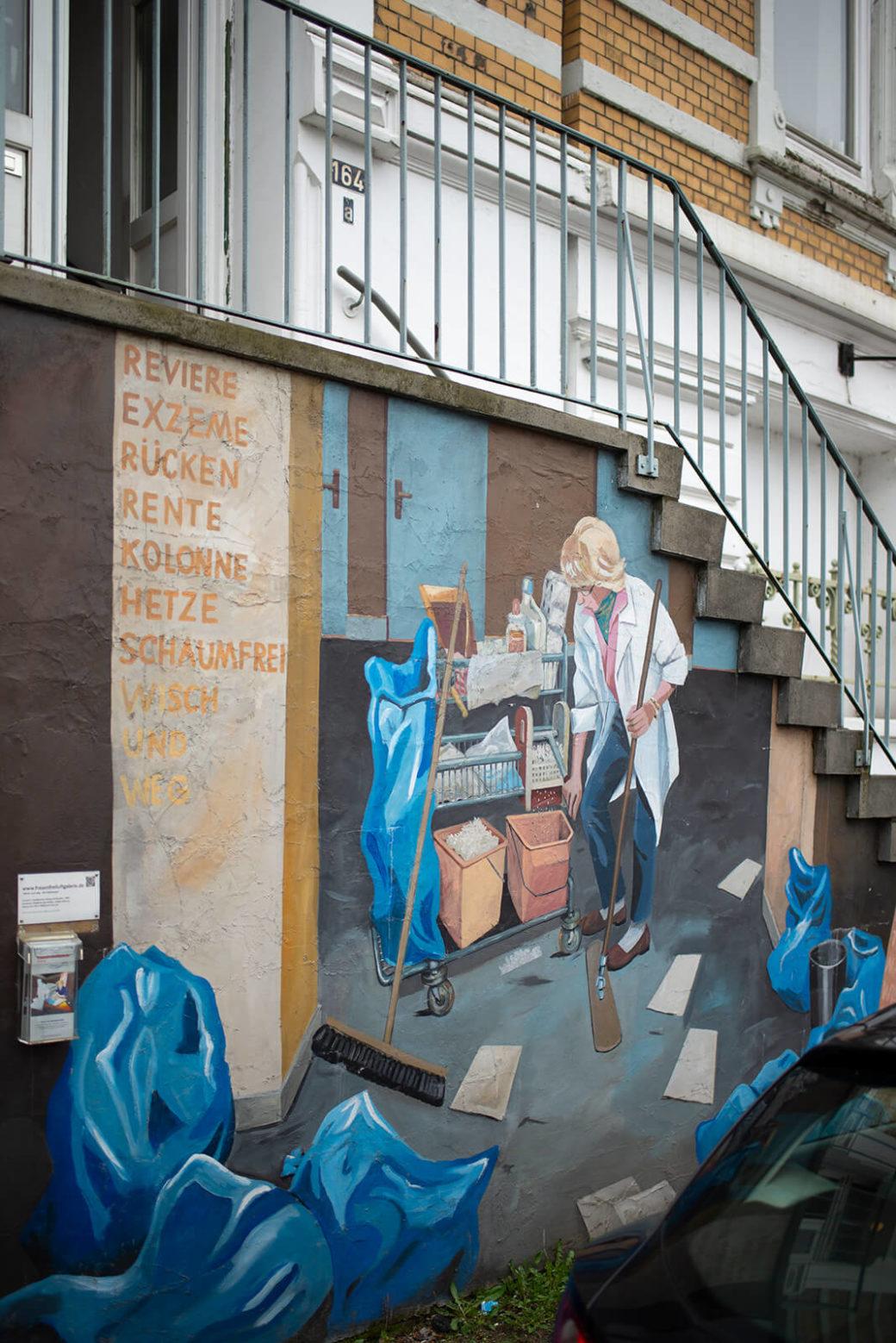 Hildegund Schuster: Wisch und weg – Die Putzfrauen (Foto: KUNST@SH/Jan Petersen, 2019)