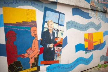 Hildegund Schuster & Janet Braun-Reinitz: Frauenarbeit im Hafen von New York und Hamburg – ein Brückenschlag (Foto: KUNST@SH/Jan Petersen, 2019)
