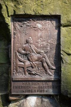 Carl Börner: Gedenkstein für Friedrich von Hagedorn (Foto: KUNST@SH/Jan Petersen, 2019)