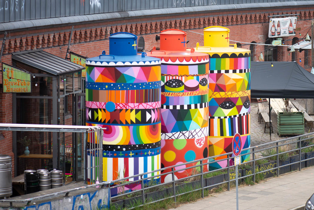 Okuda: Beer Tanks (Foto: KUNST@SH/Jan Petersen, 2019)