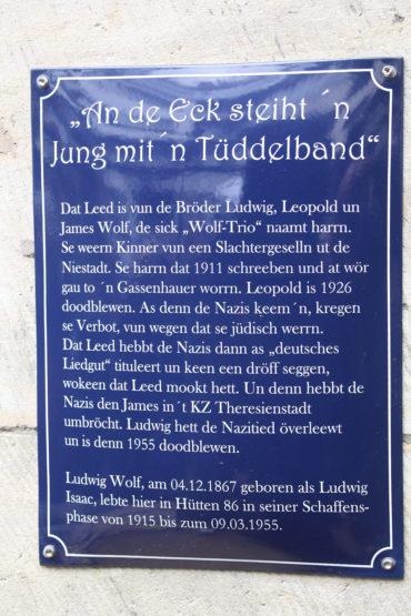 Siegfried Assmann: Jung mit'n Tüdelband (Foto: KUNST@SH/Helmut W. Schiffler, 2019)