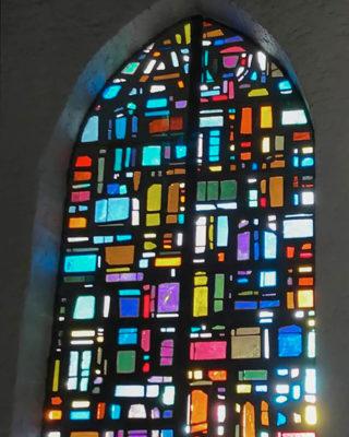 Dagmar Schulze-Roß & Alfred Roß: Buntglasfenster St. Marien (Foto: Dr. Bernd Brandes-Druba, 2019)