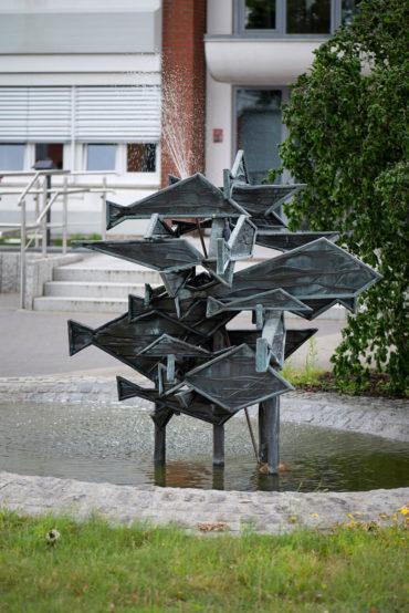 Gerhard Brandes: Fischschwarm (Foto: KUNST@SH/Jan Petersen, 2019)