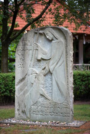 Joseph Krautwald: Grabstein für Joseph Sauermann (Foto: KUNST@SH/Jan Petersen, 2019)