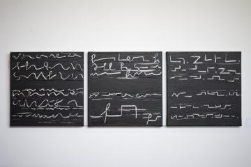 Helga Helmig: Schriftzeichen (Foto: KUNST@SH/Jan Petersen, 2019)