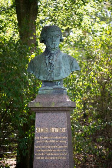 Peter von Woedtke: Denkmal für Samuel Heinicke (Foto: KUNST@SH/Jan Petersen, 2019)