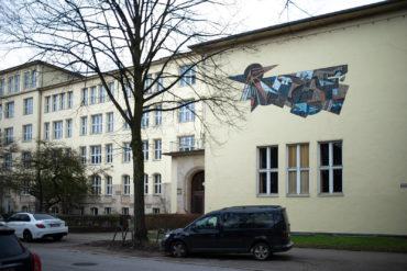 Heinz Glüsing: Wandgestaltung (Foto: KUNST@SH/Jan Petersen, 2020)
