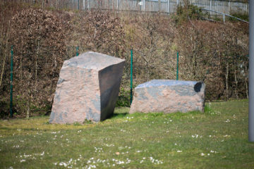 Tom Müllers: Großes Steinpaar (Foto: KUNST@SH/Jan Petersen, 2020)