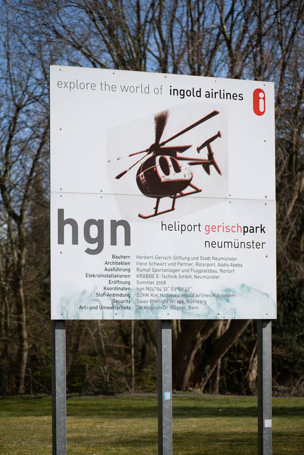 Res Ingold: Heliport Gerisch-Park Neumünster (Foto: KUNST@SH/Jan Petersen, 2020)