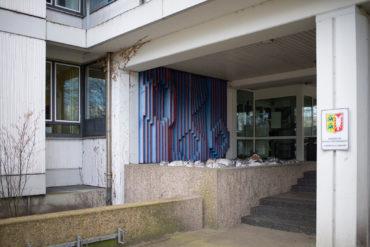 Erich Lethgau: Wandlamellenrelief (Foto: KUNST@SH/Jan Petersen, 2020)