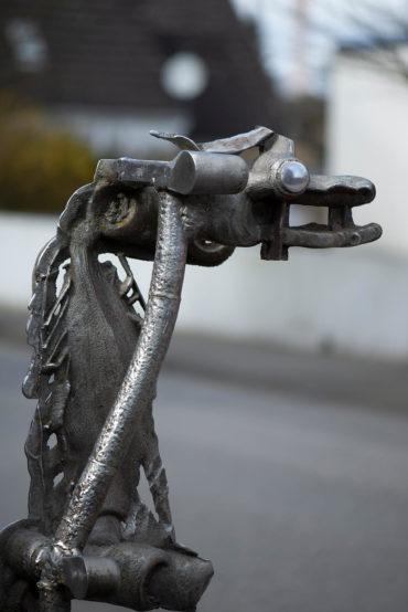 Walter Arno: Pferd und Reiter (Foto: KUNST@SH/Jan Petersen, 2020)