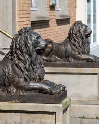 Ernst von Bandel: Zwei Löwen (Foto: KUNST@SH/Jan Petersen, 2020)