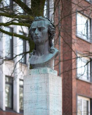 Ernst von Bandel: Büste Friedrich von Schiller (Foto: KUNST@SH/Jan Petersen, 2020)