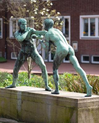 Eberhard Encke: Zwei Faustkämpfer (Foto: KUNST@SH/Jan Petersen, 2020)