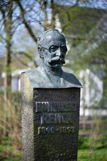 Georg Fuhg: Stele für Hans Lorenz Renck (Foto: KUNST@SH/Jan Petersen, 2020)