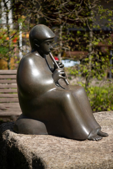 Hans Werner Könecke: Musizierender Jüngling (Foto: KUNST@SH/Jan Petersen, 2020)