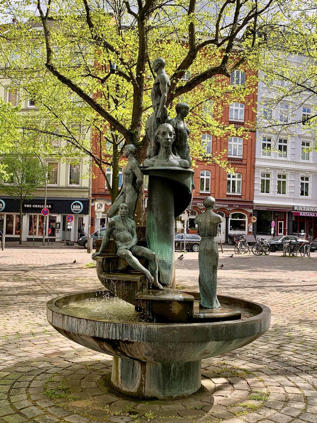 Doris Waschk-Balz: Jubiläumsbrunnen (Foto: KUNST@SH/Jan Petersen, 2020)