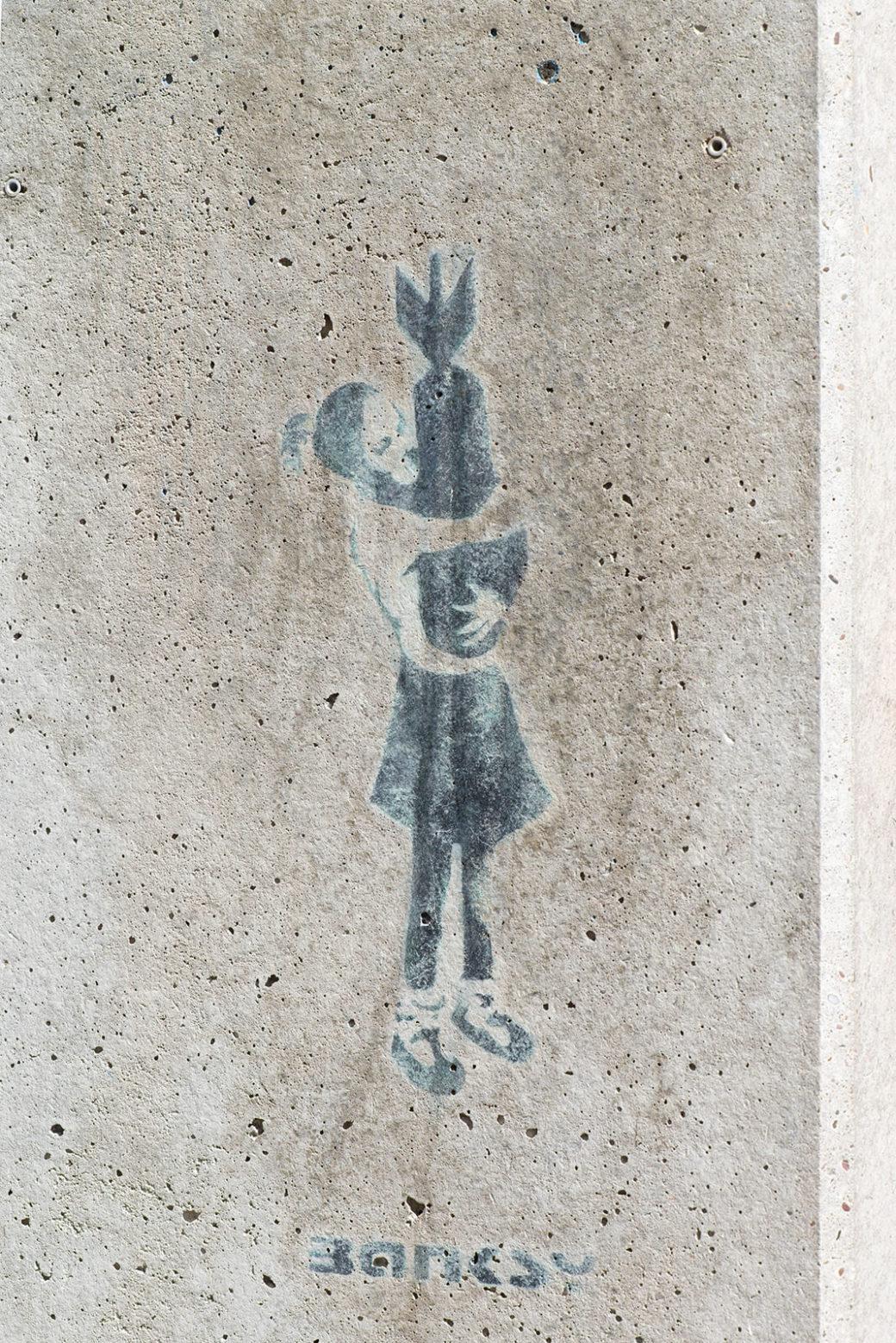 Banksy: Bomb Hugger (Foto: KUNST@SH/Jan Petersen, 2020)