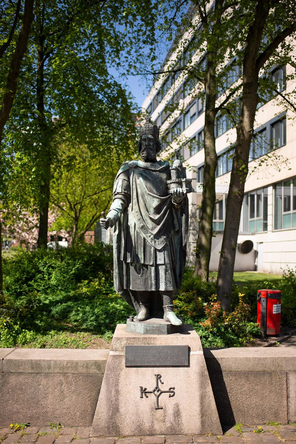 Engelbert Peiffer: Kaiser Karl und vier Wappenlöwen (Foto: KUNST@SH/Jan Petersen, 2020)