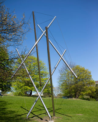 Kenneth Snelson: Röhrengefüge (Foto: KUNST@SH/Jan Petersen, 2020)