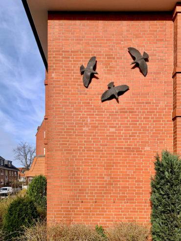 Maren Lipp: Drei Vögel (Foto: KUNST@SH/Jan Petersen, 2020)