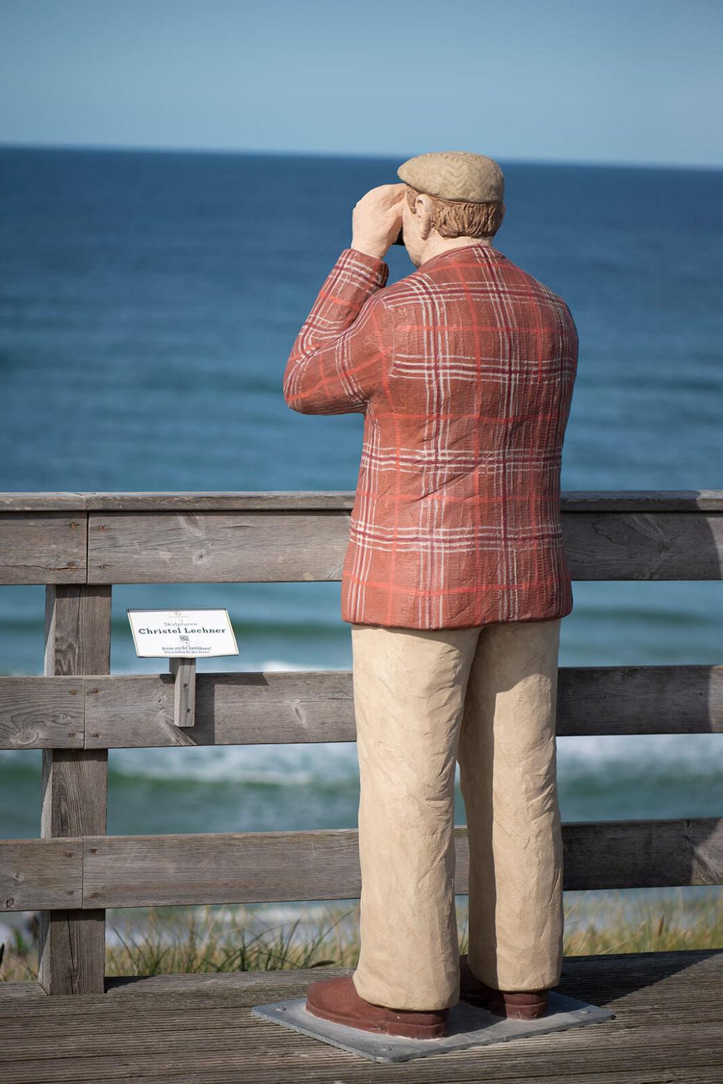 Christel Lechner: Mann mit Kamera(Foto: KUNST@SH/Jan Petersen, 2020)