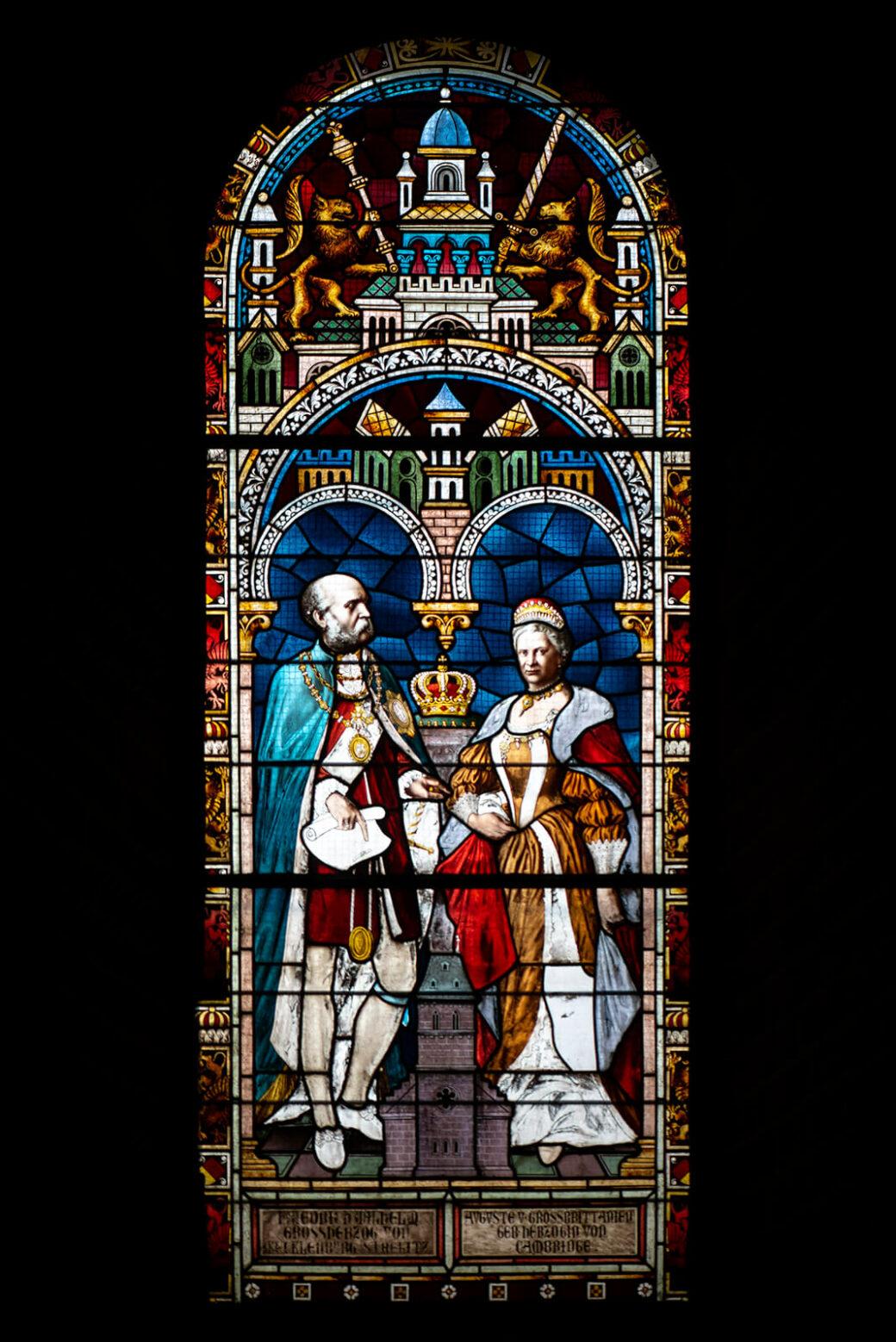 Anton Gangloff und Josef Schmid: Bildfenster Großherzog Friedrich Wilhelm (Foto: KUNST@SH/Jan Petersen, 2020)