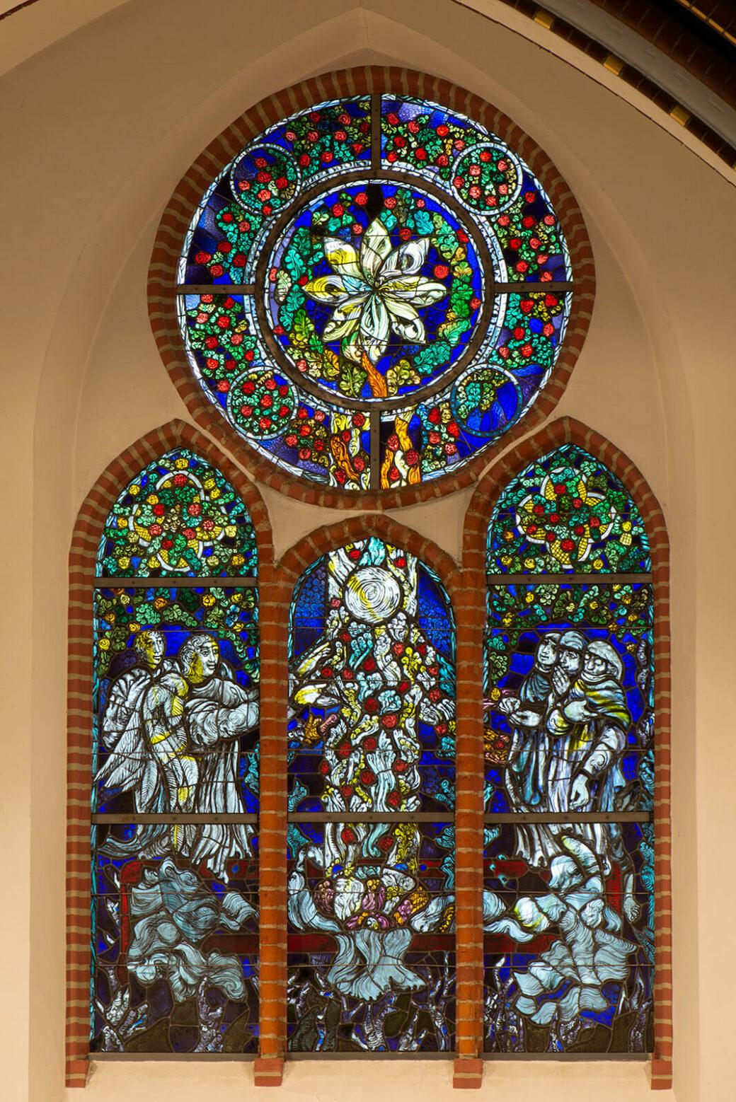 Hans-Gottfried von Stockhausen: Osterfenster in der Dankeskirche (Foto: KUNST@SH/Jan Petersen, 2020)
