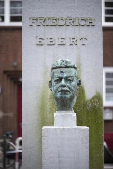 Albert Woebcke: Friedrich Ebert (Foto: KUNST@SH/Jan Petersen, 2021)