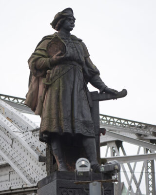 Carl Börner: Vasco da Gama und Christoph Kolumbus (Foto: KUNST@SH/Jan Petersen, 2021)