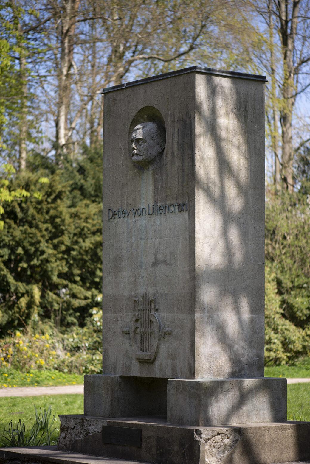 Arthur Wiechert: Denkmal für Detlev von Liliencron (Foto: KUNST@SH/Jan Petersen, 2021)