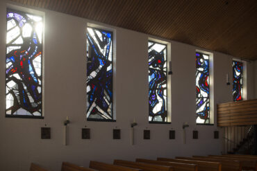 Johannes Beeck: Fenster in Stella Maris (Foto: KUNST@SH/Jan Petersen, 2021)