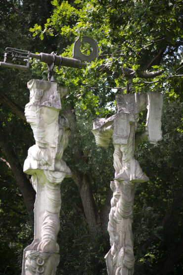 Walter Arno: Betonskulptur (Foto: KUNST@SH/Jan Petersen, 2021)