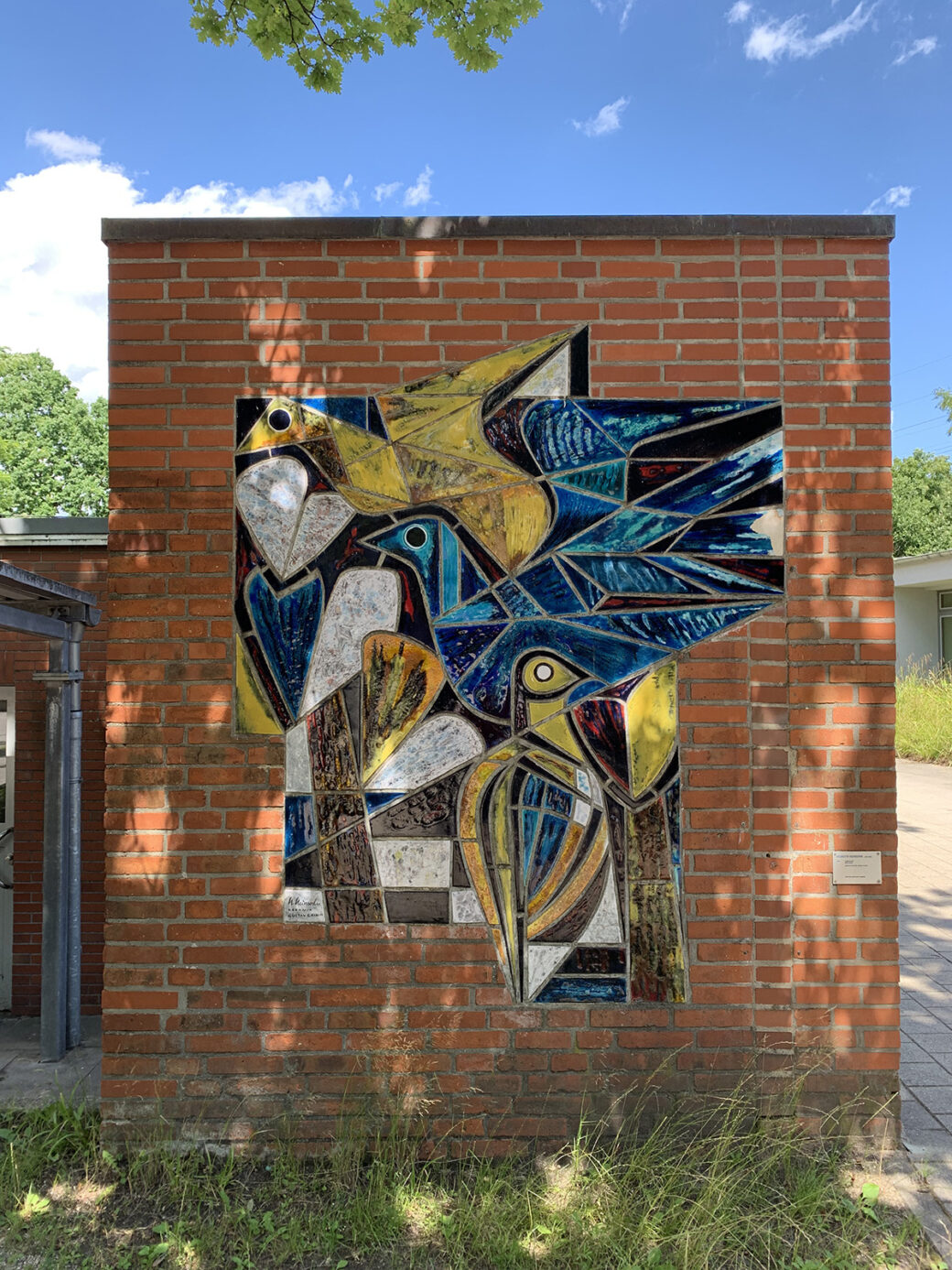 Helmuth Heinsohn: Vogelmosaik (Foto: KUNST@SH/Jan Petersen, 2021)