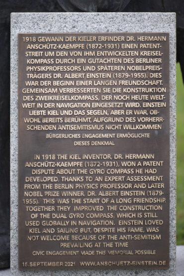 Jörg Plickat: Anschütz und Einstein (Foto: KUNST@SH/Jan Petersen, 2021)