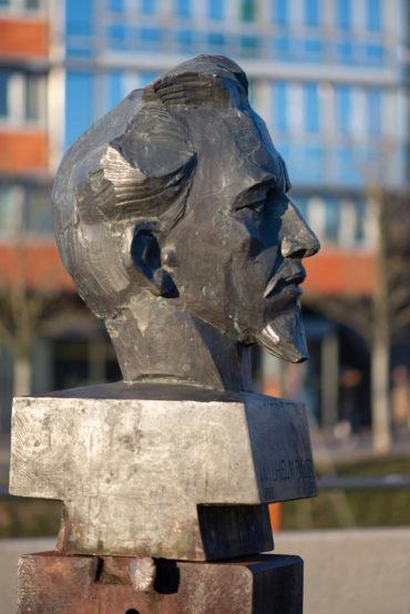 Manfred Sihle-Wissel: Büste von Wilhelm Bauer (Foto: KUNST@SH/Jan Petersen, 2020)