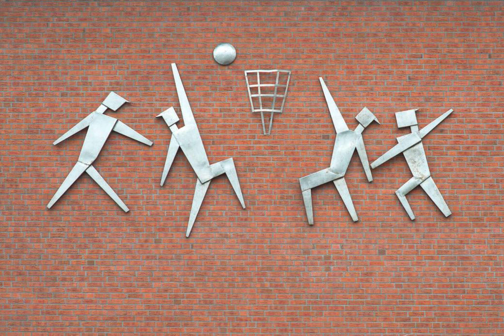 Alfred Schmidt: Basketball, (Foto: KUNST@SH/Jan Petersen, 2017)